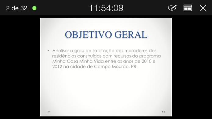 Controlando apresentação de slides pelo celular (Foto: Reprodução/Helito Bijora)