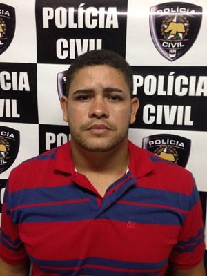 Kennedy do Nascimento Florêncio, 24 anos, confessou o crime à polícia (Foto: Divulgação/Polícia Civil do RN)