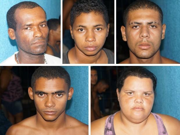 Da esquerda: Paulo Sérgio Barbosa dos Santos, Maria José Odilon, James dos Santos Amancio, José Robson dos Santos e Maria José de Oliveira. (Foto: Divulgação/PC)