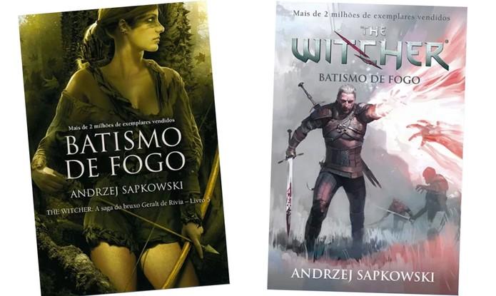 As duas opções de capa do novo Witcher (Foto: Divulgação/Martins Fontes)
