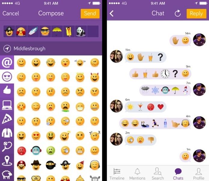 Emojicate, rede social só de emojis para iOS (Foto: Divulgação/Emojicate)