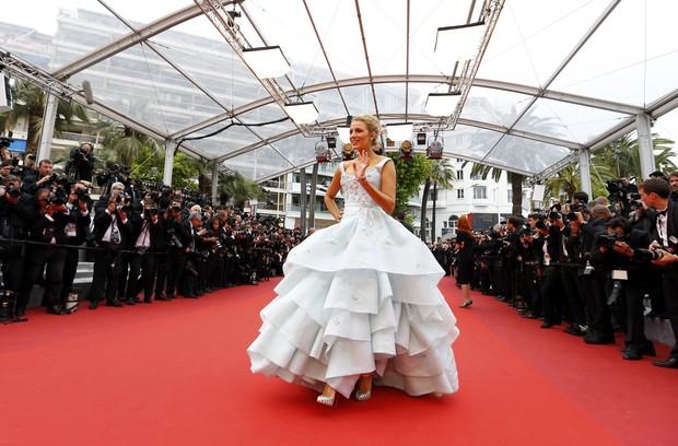 Blake Lively no Festival de Cannes (Foto: REUTERS/Yves Herman)
