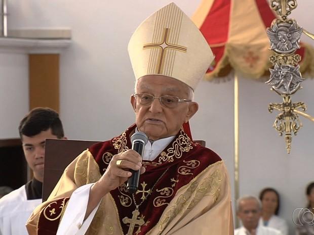 Arcebispo emérito Dom Antônio Ribeiro morre aos 90 anos em Goiânia Goiás (Foto: Reprodução/TV Anhanguera)