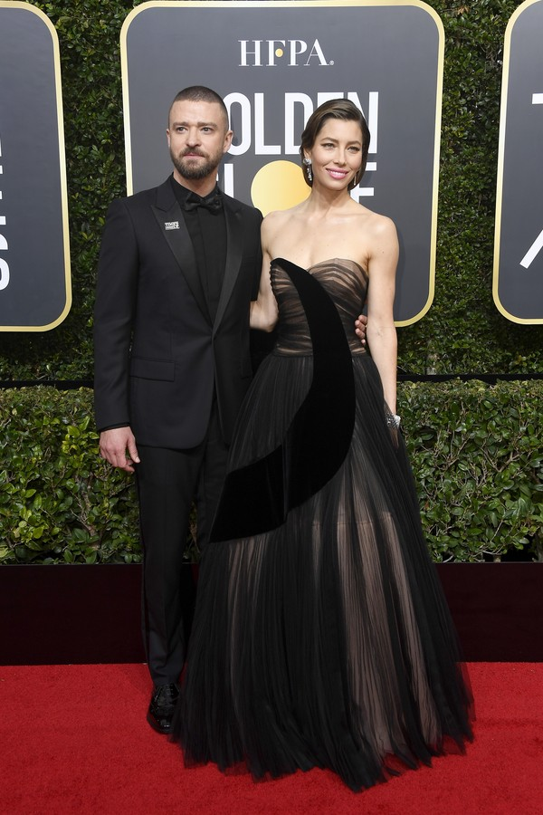 BEVERLY HILLS, CA - JANUARY 07:  Justin Timberlake and Jessica Biel attend The 75th Annual Golden Globe Awards at The Beverly Hilton Hotel on January 7, 2018 in Beverly Hills, California.  (Photo by Frazer Harrison/Getty Images) (Foto: Getty Images)