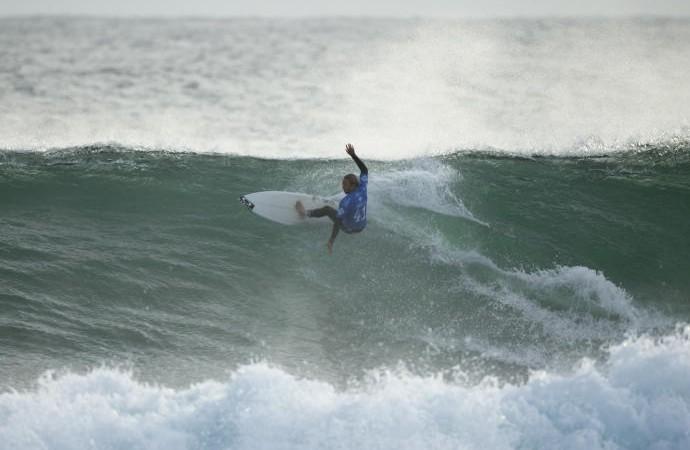 Caio Ibelli nas quartas de final da etapa de Margaret River (Foto: Divulgação)