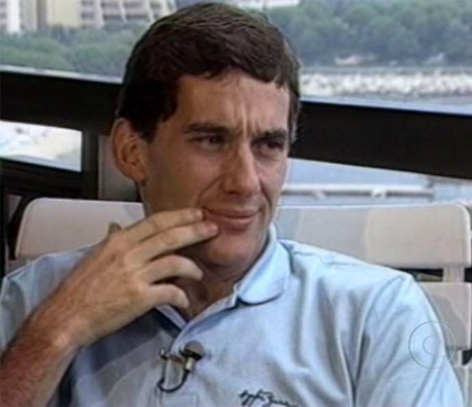 Ayrton Senna (Foto: TV Globo)