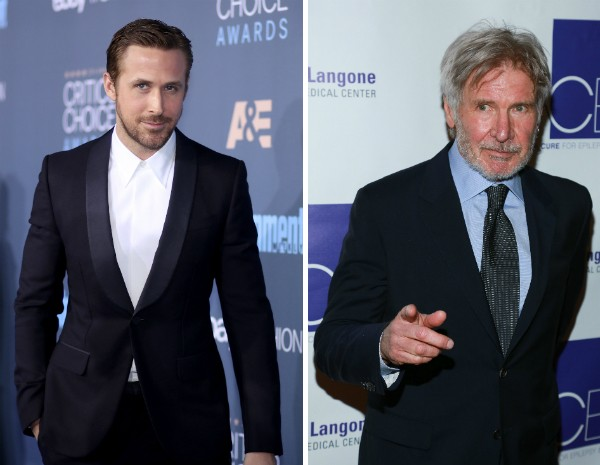 Os atores Ryan Gosling e Harrison Ford (Foto: Getty Images)