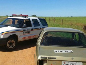 Polícia localiza carro e furto e três são detidos em Uberlândia (Foto: Polícia Militar de Meio Ambiente/Divulgação)
