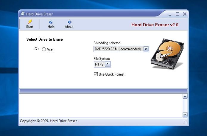 Hard Drive Eraser é um dos mais conhecidos e confiáveis (Foto: Reprodução)