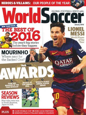 Capa World Soccer Messi melhor de 2015 (Foto: Reprodução)