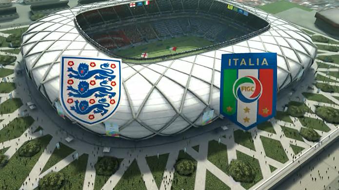 Simulação Copa do Mundo Fifa 2014: Inglaterra x Itália (Foto: Reprodução/Murilo Molina)