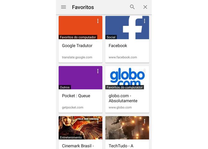 Veja como ativar o novo gerenciador de favoritos do Chrome para Android (Foto: Reprodução/Paulo Alves)