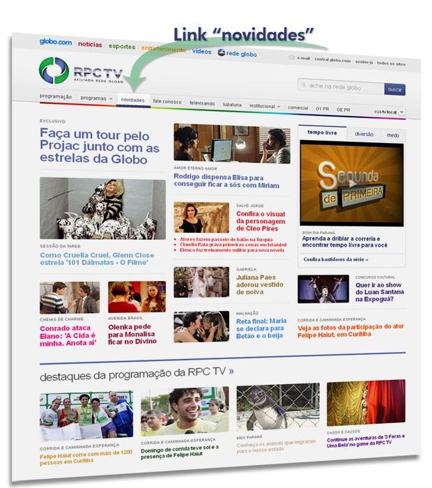 Destaque novidades RPC TV (Foto: Reprodução/ RPC TV)