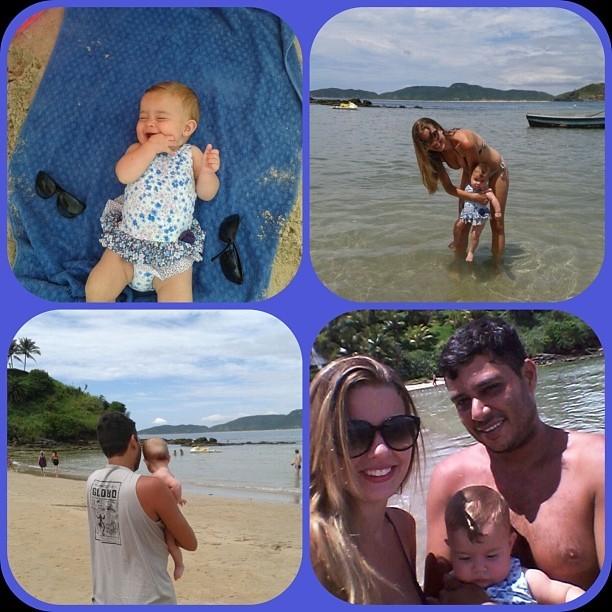 Debby Lagranha com o marido e a filha (Foto: Instagram / Reprodução)