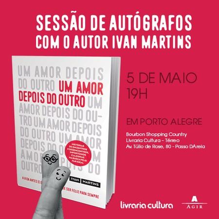 Lançamento de UM AMOR DEPOIS DO OUTRO em Porto Alegre (Foto: Foto: Divulgação)