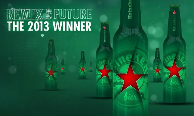 Degrossi também venceu concurso para o desenho de garrafa comemorativa da Heineken