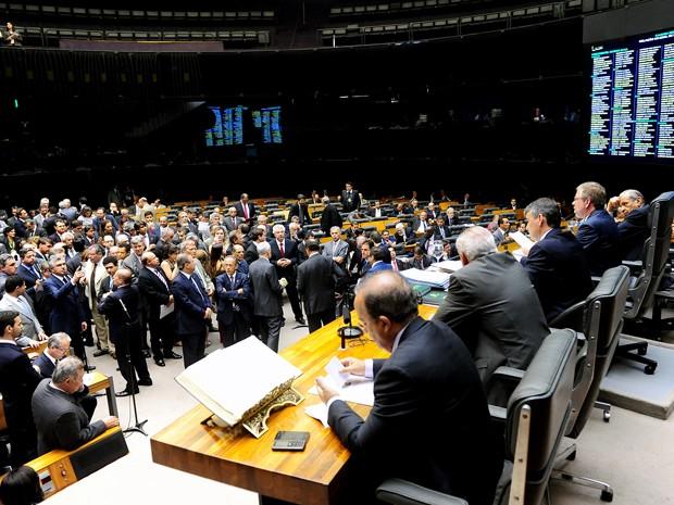 Plenário da Câmara durante analise da MP que reintroduz regras vetadas pela presidente Dilma Rousseff no novo Código Florestal (Foto: Gustavo Lima/Ag. Câmara)