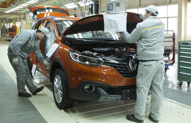 Fábrica da Renault na China (Foto: Divulgação)