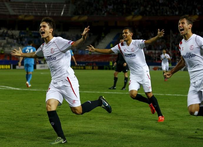 Denis Suárez, Sevilla x Zenit, Liga Europa (Foto: Agência Reuters)