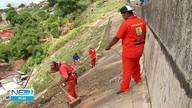 Áreas com risco de desabamento no Recife recebem limpeza de canais e colocação de lonas