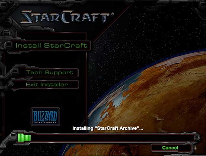 A instalação de StarCraft é simples e rápida (Foto: Reprodução/Felipe Vinha)