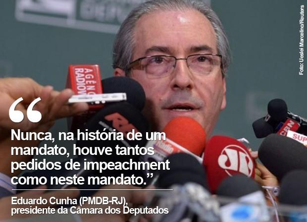 o presidente da Câmara, Eduardo Cunha, em imagem de arquivo (Foto: Ueslei Marcelino/Reuters)
