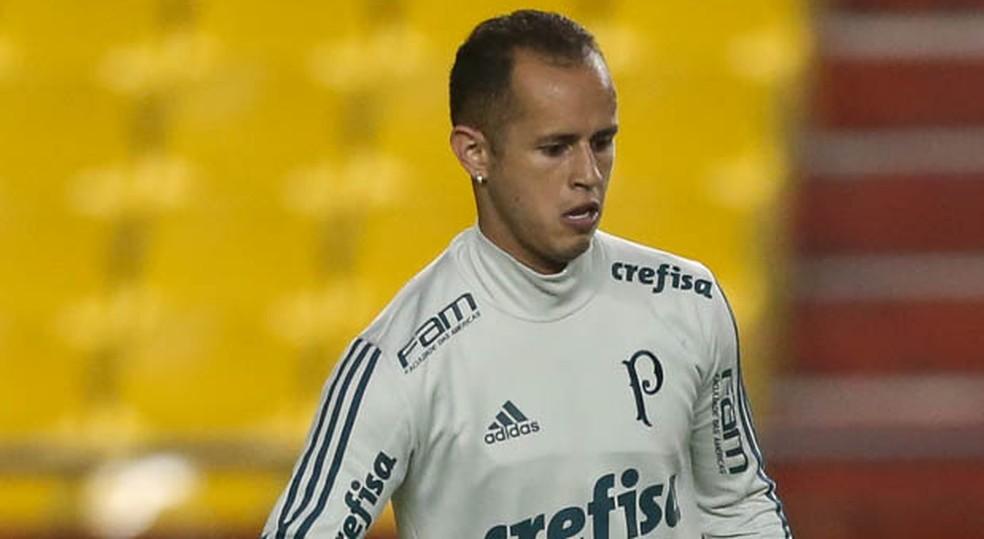 Guerra, em treino do Palmeiras em Guayaquil, na terça-feira (Foto: Cesar Greco/Ag Palmeiras)