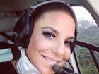 Ivete Sangalo vai de helicóptero para bloco em Salvador