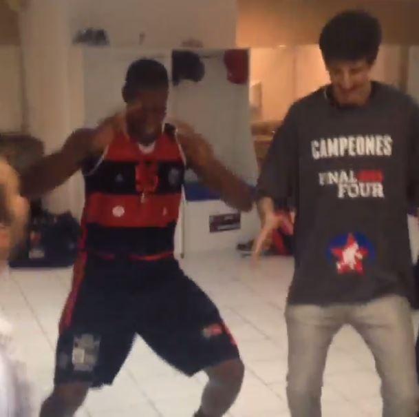 flamengo basquete lepo lepo dança comemoração (Foto: Reprodução/Instagram)