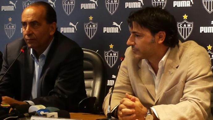 Apresentação da Puma como no patrocinador do Atlético-MG (Foto: Léo Simonini)