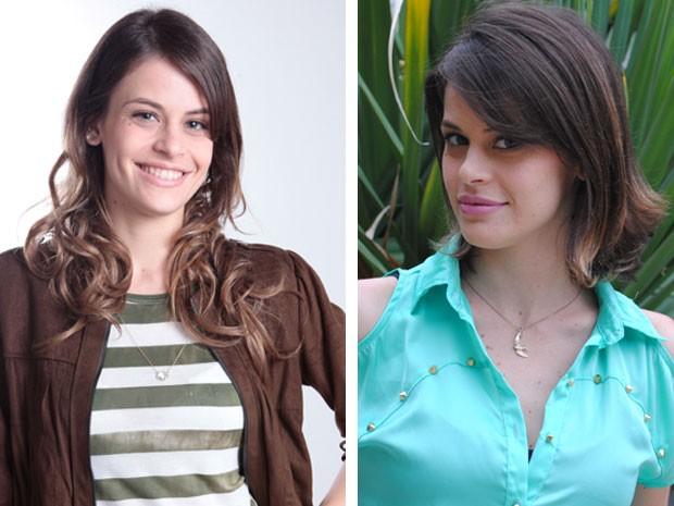 Confira o antes e o depois: o comprimento abaixo dos ombros foi encurtado até a altura do queixo (Foto: Malhação / Tv Globo)