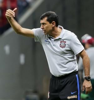 Fábio Carille, Fluminense x Corinthians (Foto: Daniel Augusto Jr./Agência Corinthians)