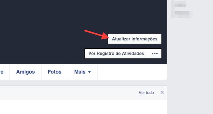Acessando a página de atualização de informações do Facebook (Foto: Reprodução/Marvin Costa)