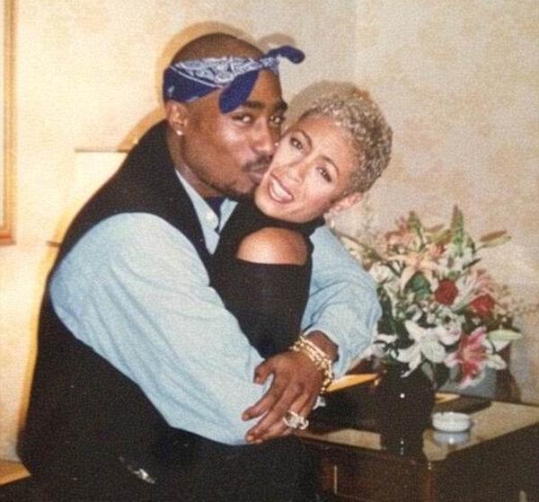 A atriz Jada Pinkett Smith e o rapper Tupac (Foto: Twitter)