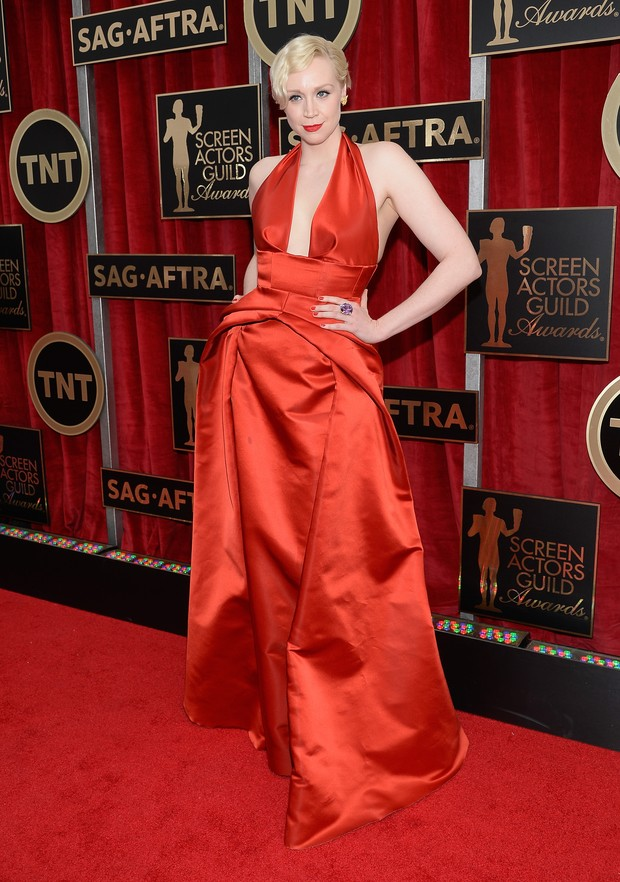 Gwendoline Christie no SAG Awards (Foto: AFP)