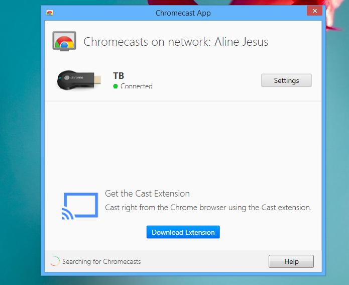 Escolha o Chromecast pelo aplicativo (Foto: Reprodução/Aline Jesus)