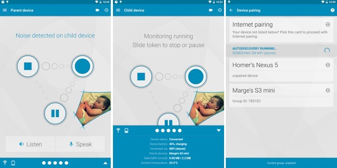 App transforma celular em babá eletrônica (Foto: Reprodução/Raquel Freire)