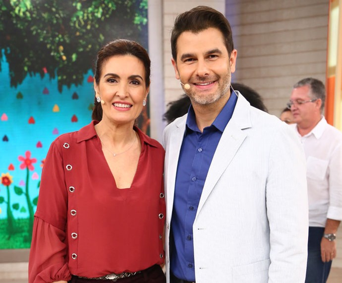 Fátima com o Dr. Fernando Gomes Pinto (Foto: Fabiano Battaglin/Gshow)