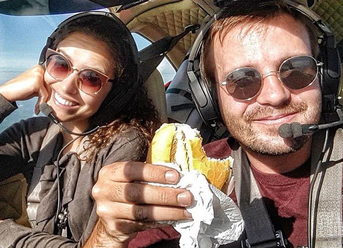 Max Fercondini e Amanda Richter enfrentaram as dificuldades com bom humor (Foto: Arquivo Pessoal)