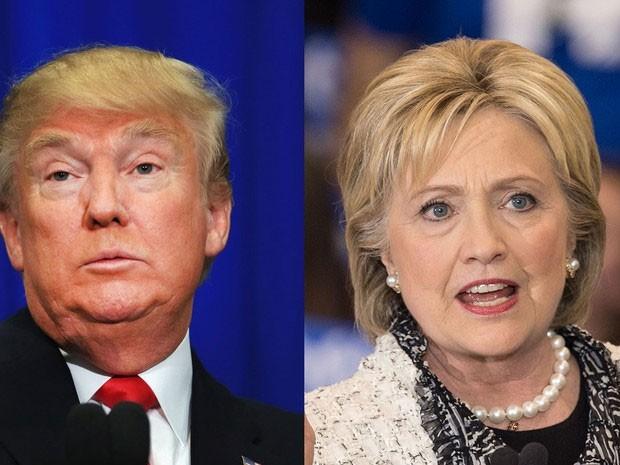 Donald Trump e Hillary Clinton saíram vencedores na Superterça (Foto: Tom Pennington/Getty Images North America/Nicholas Kamm/AFP)