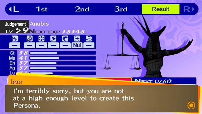 Você só pode criar Personas com o mesmo level máximo que o seu (Foto: Divulgação)