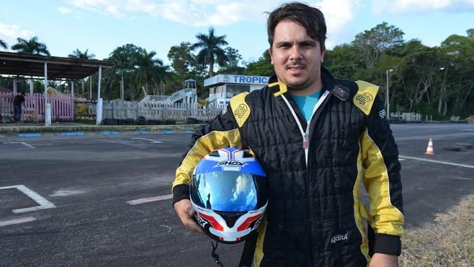 André Rossetto de Ariquemes, foi campeão estadual de kart em 2012 (Foto: Franciele do Vale)