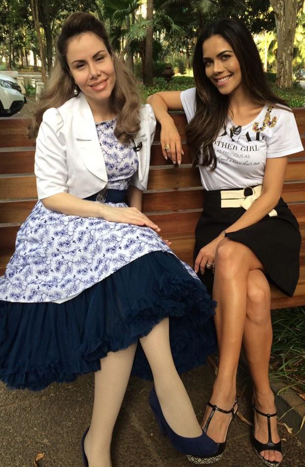Sarah Sheeva e Daniela Albuquerque (Foto: Divulgação/RedeTV!)