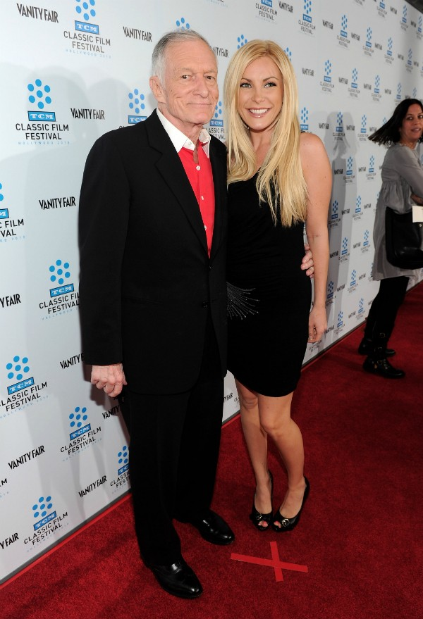Hugh Hefner e Crystal Harris (Foto: Getty Images)