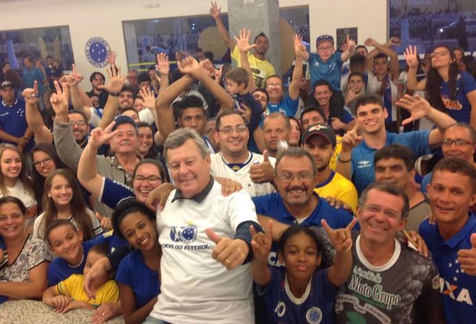 Raul Plassmann Cruzeiro Reduto Azul Mariana (Foto: Cruzeiro/Divulgação)