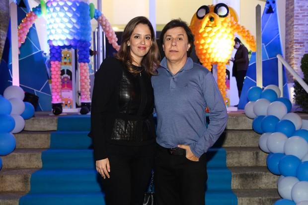 Tom Cavalcante com a esposa Patricia (Foto: Manuela Scarpa/Photo Rio News)