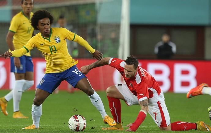 Willian, Brasil X Austria (Foto: Bruno Domingos / Mowa Press)