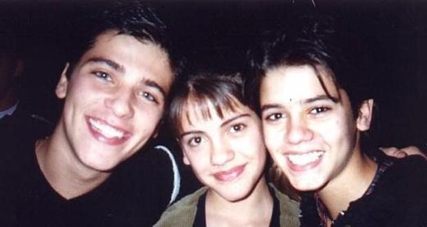 Bruno Gagliaso, Elisa Veeck e Yuri Xavier: triângulo amoroso em 'Chiquititas' (Foto: Reprodução)