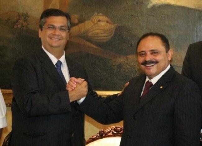 O governador do Maranhão, Flávio Dino, e Waldir Maranhão, presidente interino da Câmara