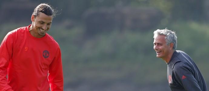 José Mourinho e Ibrahimovic Manchester United (Foto: Reuters)
